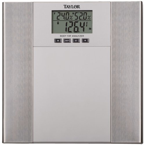 Taylor Scales 5568F Body Fat -Body Water Scale In Silver and Stainless Steel