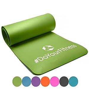 Esterilla para fitness »Yogini« / gruesa y suave, perfecta para pilates, gimnasia y yoga / Medidas: 183 x 61 x 1 cm / verde claro