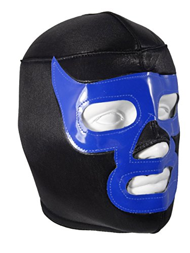 Black Blue Demon Adult Lucha Libre Wrestling Mask (pro-fit) Costume Wear - Black/Blue