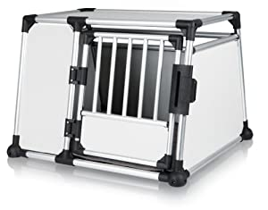 TRIXIE Pet Products Scratch-Resistant Metallic Crate, X-Large