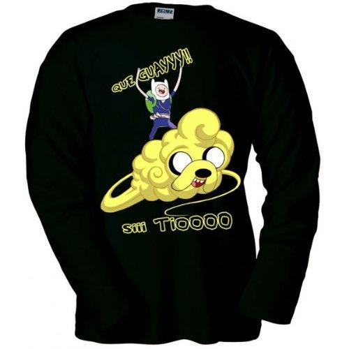 Camiseta-manga-larga-de-Finn-y-Jake-Hora-de-aventuras-nube-Kinton
