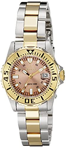 buy Invicta Women'S 14370 Pro Diver Rose Gold Tone Dial Two Tone Stainless Steel Watch
