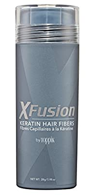 XFusion Economy Size Keratin Hair Fibers, Gray, 0.98 Oz