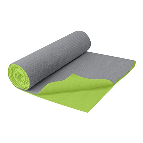 Gaiam No-Slip Yoga Mat Towel, Citron Storm