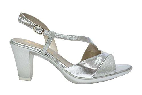 Melluso Sandali scarpe donna argento R5867 35