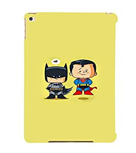 EPICCASE Little Batman & Superman Mobile Back Case Cover For Apple Ipad 6 (Designer Case)