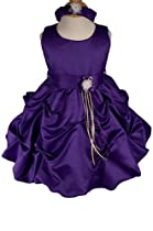 AMJ Dresses Inc Purple Infant Flower Girl Wedding Dress Size 2t