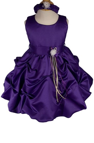 AMJ Dresses Inc Purple Infant Flower Girl Wedding Dress Size 4t