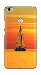 Amez designer printed 3d premium high quality back case cover for Xiaomi Mi Max (Golden Sunset Ocean Sail)