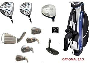 Boys Tour Tech  13 Piece Combo Golf Club Set w460cc Driver+3Wd+Utility Club+3,5,7,9... by AGXGOLF