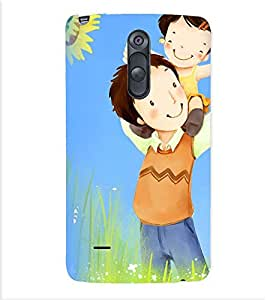 Printvisa Father Daughter In A Field Back Case Cover for LG G3 Stylus::LG G3 Stylus D690N::LG G3 Stylus D690
