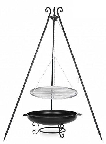 Der Schwenkgrill aus Rohstahl 50 cm, auf dem Dreibein mit der Feuerschale # 42 online bestellen
