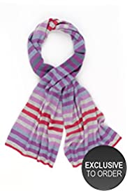 Pure Cashmere Striped Scarf