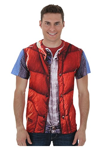 Back to the Future Marty McFly Vest Costume T-Shirt - S to 3XL