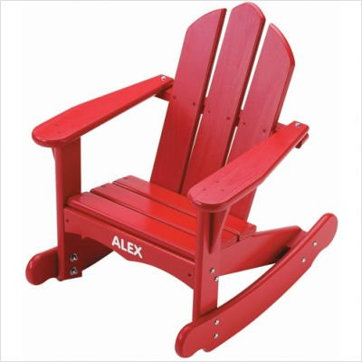 Child's Adirondack Rocking Chair Finish: Green