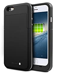 iPhone 6S Battery Case, HianDier 3800mAh Extended Rechargeable Battery Case iPhone 6 / 6S Power Bank Cover Portable Charger Battery Pack for iPhone 6 / 6S 4.7\'\'-Black