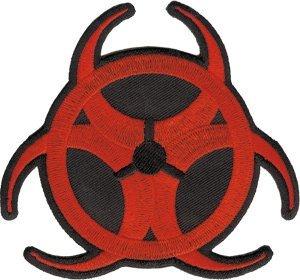Biohazard-Toppa termoadesiva, colore: rosso con Logo ufficiale p-3187 Gifts Toys
