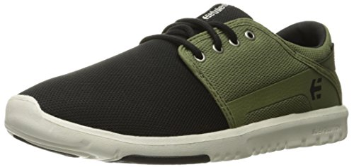Etnies Men's Scout Skateboarding Shoe, Black/Olive, 10 M US