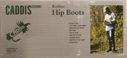 Caddis Wading Systems Caddis Men's 2 Ply Rubber Hip Boots, 11