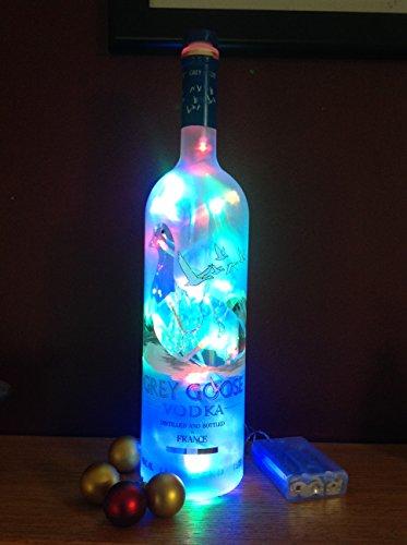 Grey Goose Vodka 1L Upcycled Bottle Light-Multi Led front-464348