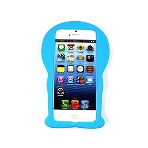 Apple ドラえもん Doraemon シリコンカバー ブルー iPhone5 カバー 4S-192