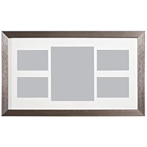 """Argento Collage 5 Photo Frame 1 of 8 x 10"""" / 4 of 4 x 6"""" Silver Beautiful"""