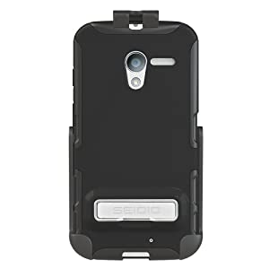 Seidio BD2-HK3MTXPK-BK DILEX Case with Metal Kickstand and Holster Combo for use with Motorola Moto X - Black