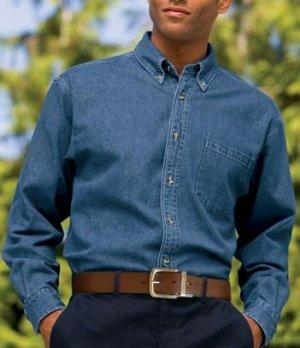 Big Mens Heavyweight Denim Shirt by Port Authority® (Big & Tall and Regular Sizes)