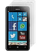 3x kwmobile film de protection pour écran MAT et ANTI-REFLETS avec effet anti-traces de doigts pour Nokia Lumia 625. QUALITÉ SUPÉRIEURE