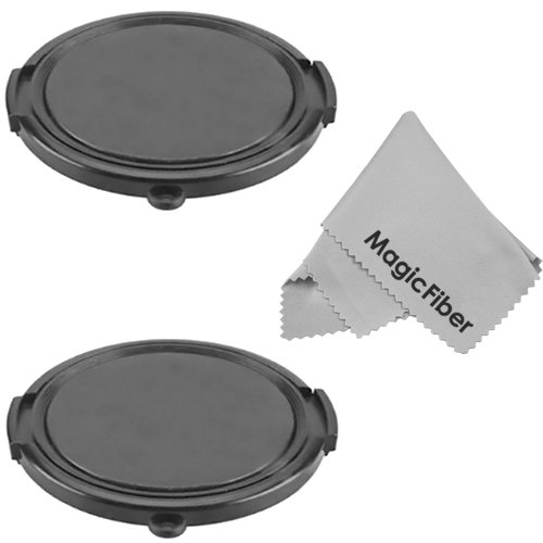 (Set Of 2) 52Mm Snap-On Lens Cap (For Camera Lenses With 52Mm Filter Threads) + Premium Magicfiber Microfiber Cleaning Cloth