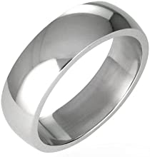 Stainless Steel Comfort Fit Wedding Band Size 10