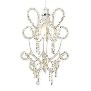 Modern And Elegant Hanging Chandelier Jewel Beaded Ceiling Pendant Light Lamp Shade by MiniSun