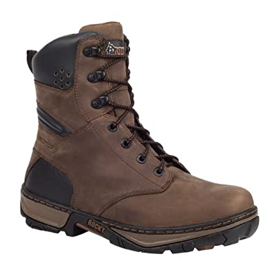"Rocky Men's 8"" Forge Steel Toe Waterproof Work Boot-RK022 (M8.5)"