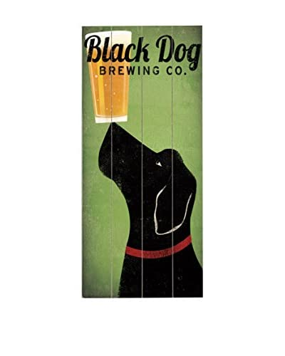 Artehouse Black Dog Brewing Co. Wood Wall Décor, Green/Black