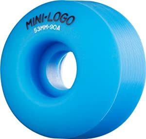 Buy Mini Logo C-Cut Hybrid 53mm 90a Blue Skateboard Wheels (Set Of 4) by Mini-Logo