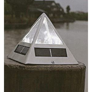 Click to buy LED Outdoor Lighting: Solar Powered Outdoor LED Pyramid Post Cap Light from Amazon!