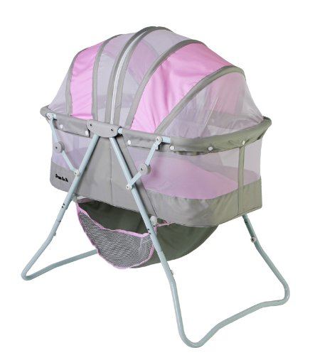 Dream On Me Karley Bassinet, Grey And Pink front-1032043