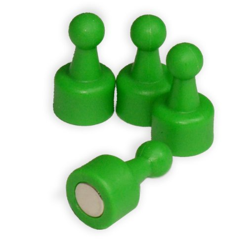 Cms Neopin® 24-Count Green Magnetic Push Pins - Can Hold Up To 16 Pages Of 20 Lb Paper front-204590