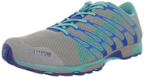 Inov-8 Women's F-Lite 249 Fitness Shoe,Grey/Blue/Aqua,7 M US