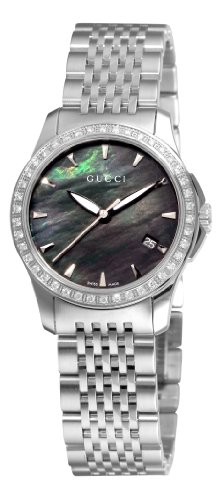 9c6dbc2e4aa GUCCI Women s YA126507 G-Timeless Black Mother-Of-Pearl Diamond Dial Watch  Review