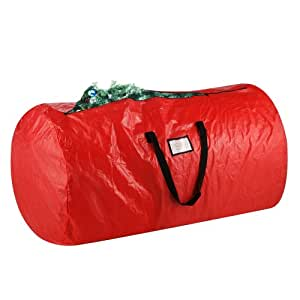 Elf Stor Deluxe Red Holiday Christmas Tree Storage Bag Large For 9 Foot Tree