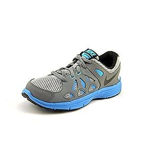 Nike Boys-Big Kids Dual Fusion Run 2 Gray Casual Sneakers 1 M US
