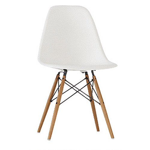 6 White Eames DSW Chairs White Eiffel Dining Lounge Chair - Contemporary Furniture