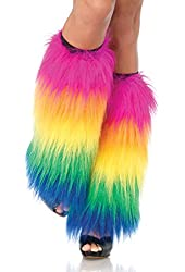 Leg Avenue Furry Rainbow Leg Warmers