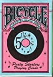 NEW BICYCLE PARTY STARTERS TRIVIA & PLAYING CARDS 50'S EDITION 2 DECKS