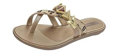 Grendha Glamour Thong femmes Flip Flops / Sandals - or Leopard - SIZE EU 37