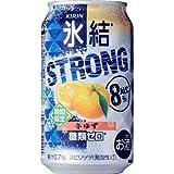 【期間限定】キリンチューハイ 氷結ストロング 冬ゆず 糖類ゼロ 350ml×24缶(1ケース)