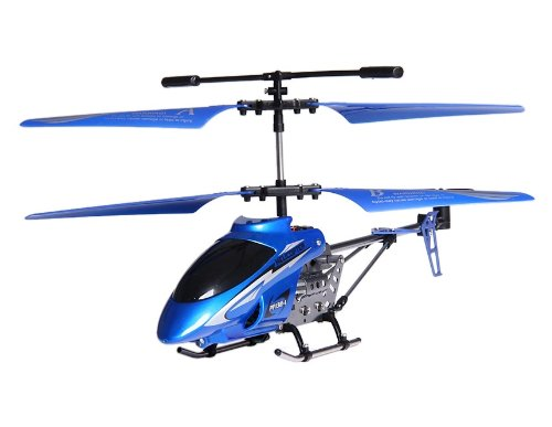 3-Channel RC Helicopter with Gyroscope and Light (Blue)