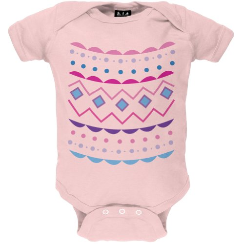 Easter Egg Pink Zig Zag Costume Baby One Piece