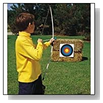 Junior Archery Set, 39 Inch Fiberglass Bow, 3 18 Inch Arrows, 4 Color Targets, Boxed
